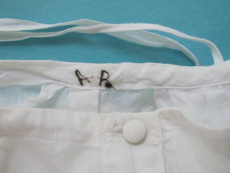 Petticoat Slip White Cotton Antique Victorian c.1900 Full Length Tucks Eyelet Embroidered Ruffle Hem Waist Up To 30 Waist Prairie Girl