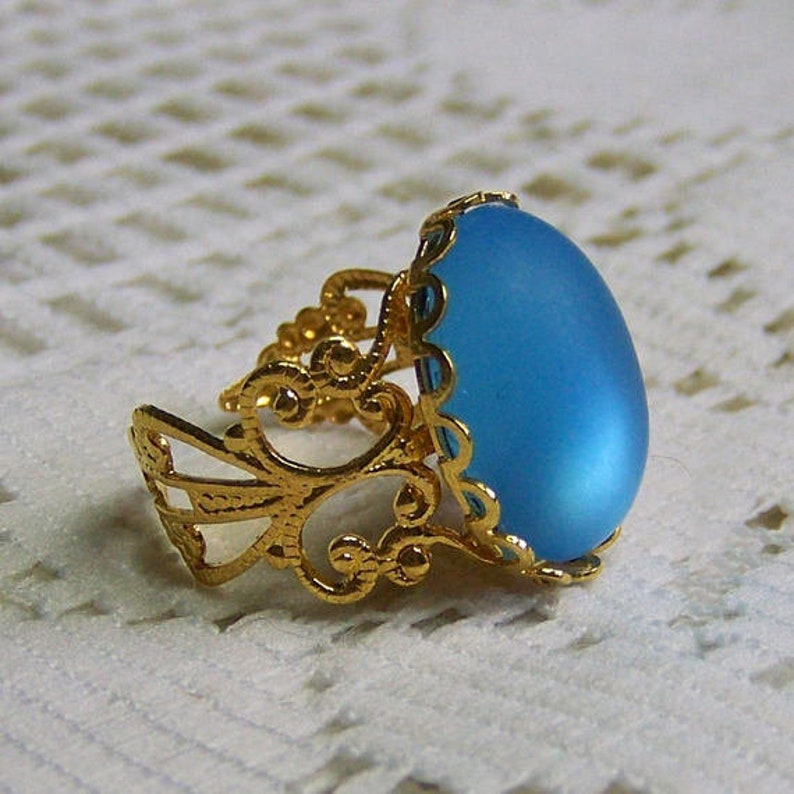 Aqua Blue Glass Teardrop Earrings Aquamarine Gold Earrings Blue Quartz Birthday Gift Idea Gift for Her Faceted Glass Teardrop Earrings