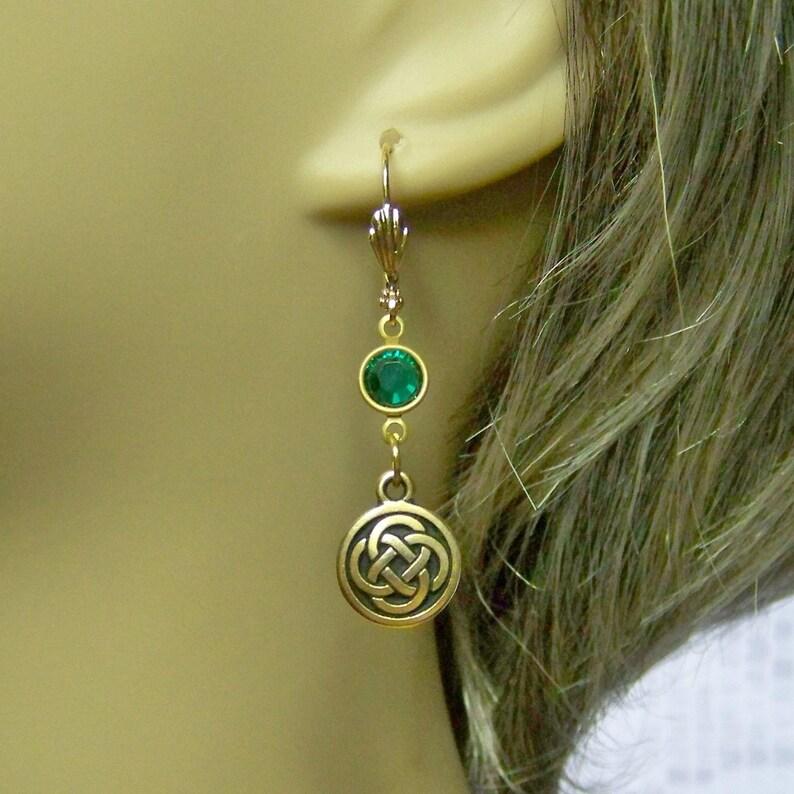 b4e7c5449925c8 Celtic Love Knot Earrings 22kt Gold Celtic Knots Irish
