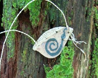 Potsherd Jewelry Eye, Snake, Fiber Pottery Necklace, glyph, Petroglyph, Primitive Native American