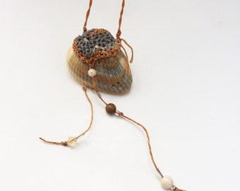Shell Necklace, Mermaid Beach Wear, Long Sexy Necklace asymmetrical OOAK