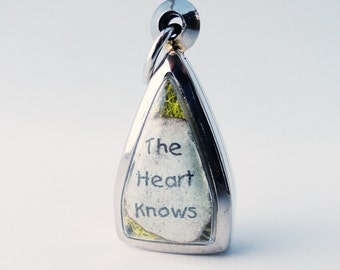 The Heart Knows, Stone Heart, Terrarium Locket Necklace, Mini Curio Display, Natural World LK7