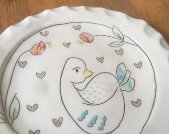 Bird plate lunch sized