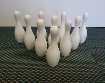 """3"""" White Mini Bowling Pin Set"""