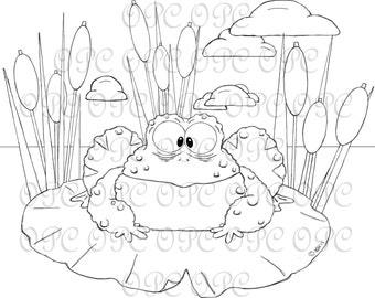 Digital Stamp Benedict Bullfrog