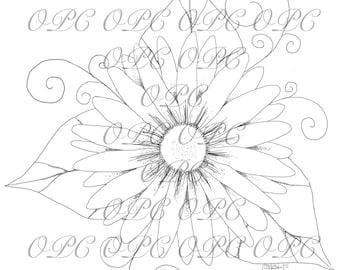 Digital Stamp Whimsy Flower