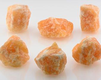 Orange Calcite Raw Rough Gemstone - Stone is Conduit to Spiritual Realm