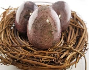 Rhodonite Polished Gemstone Egg - Stone for Dreams Come True