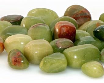 Green Aragonite Tumbled Gemstone - Stone of Nature's Energy
