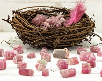Rough Raw Pink Watermelon Tourmaline - Gemstone for the Heart Chakra