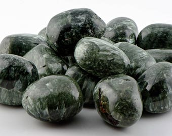 Seraphinite Tumbled Gemstone - Stone for the Prism of Angelic Energy