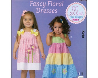 Kwik Sew K147 Ellie Mae Designs Pattern Girls/' Dresses Sizes 4-8 BN