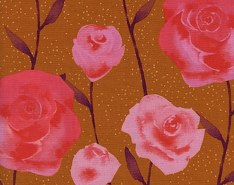 Cotton + Steel - Firelight Collection - Roses in Caramel