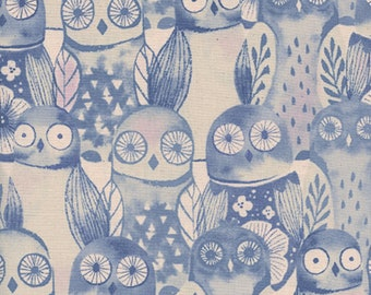Cotton + Steel - Firelight Collection - Wise Owls in Lilac