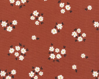 Cloud 9 Fabrics - Fanciful Collection - Pocket Full of Posies in Brick Organic