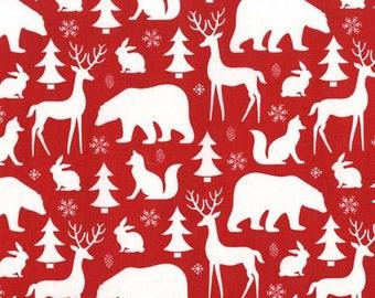VERKOOP - Michael Miller - bos wintercollectie - Winter vrienden in Santa