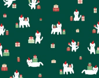 SALE - Dear Stella - Christmas Darlings Collection - Meowy Christmas in Fir