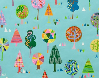 SALE - Alexander Henry - Magic Trees in Turquoise