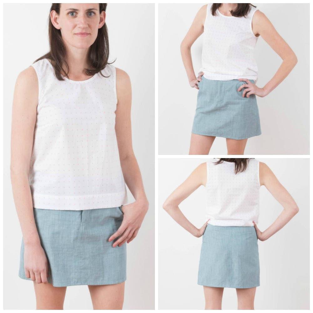 ad47016cf09b8 Grainline Studio Moss Skirt Pattern paper   Etsy