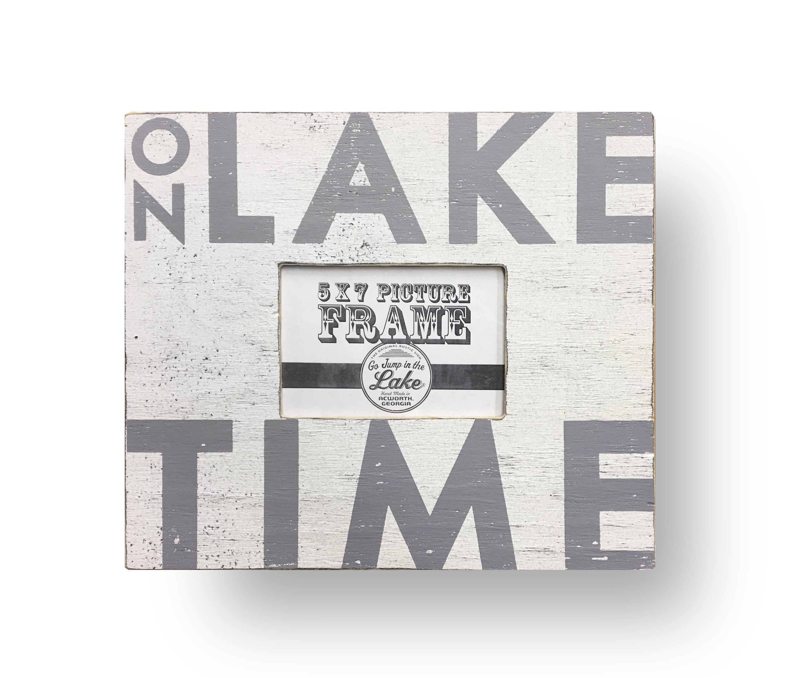 Rustic Wooden Photo Frame On Lake Time 15 X 16 Frame Holds 5 Etsy