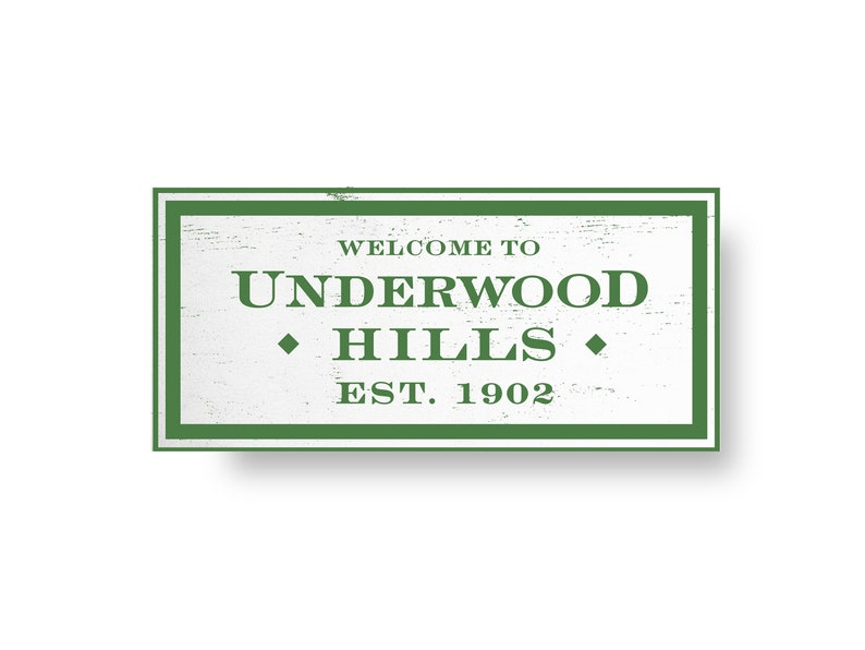 Neighborhood Underwood Hills Neighborhood Rustic Wooden Sign 8 image 0