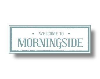 Morningside Atlanta Neighborhood sign 5 x 18