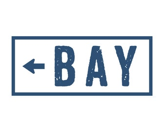Bay sign arrow 10 x 20 Bay house decor rustic wall decor rustic