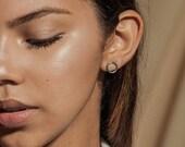 ONE post earrings - sterling silver