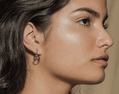 ONE dangle earrings - sterling silver