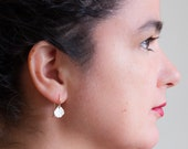 Maria Post Earrings - textured studs in gold or silver