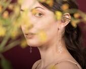 Eva Earrings - Mixed Metal Organic Statement Earrings