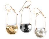 Terra Earrings - dangle mixed metals