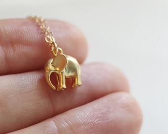 Elephant Necklace   Gold Elephant Necklace