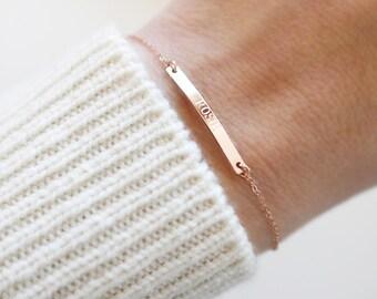Name Bar Bracelet   14kt Gold Fill or Sterling Silver