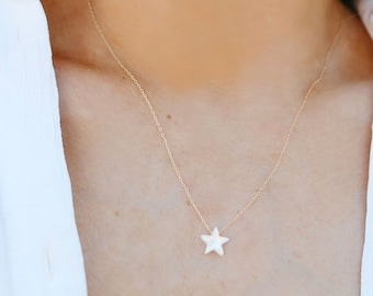 Opal Necklace | Opal Star Necklace | 14kt Gold Filled or Sterling Silver