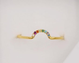 Rainbow Ring, Arch Ring, Rainbow Jewelry