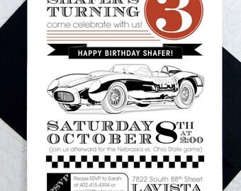 Race Car Party Invitations Birthday Invites Boys