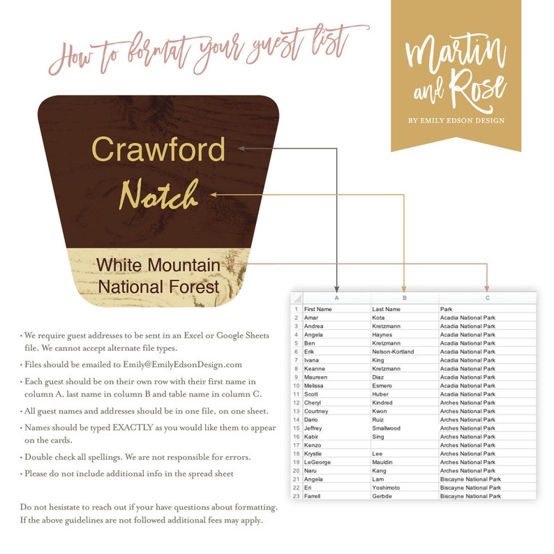 graphic about Printable List of National Parks identified as Nationwide Park Marriage Destination Playing cards -- Printable Escort Playing cards, Rustic Desk Quantities PDF