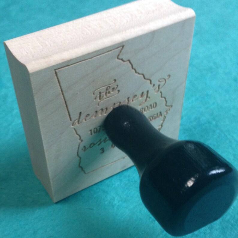Wood Mounted or Self-Inking Address Stamp Address Labels Michigan Address Stamp \u2013 Custom Return State Address Stamp color Ink stamp