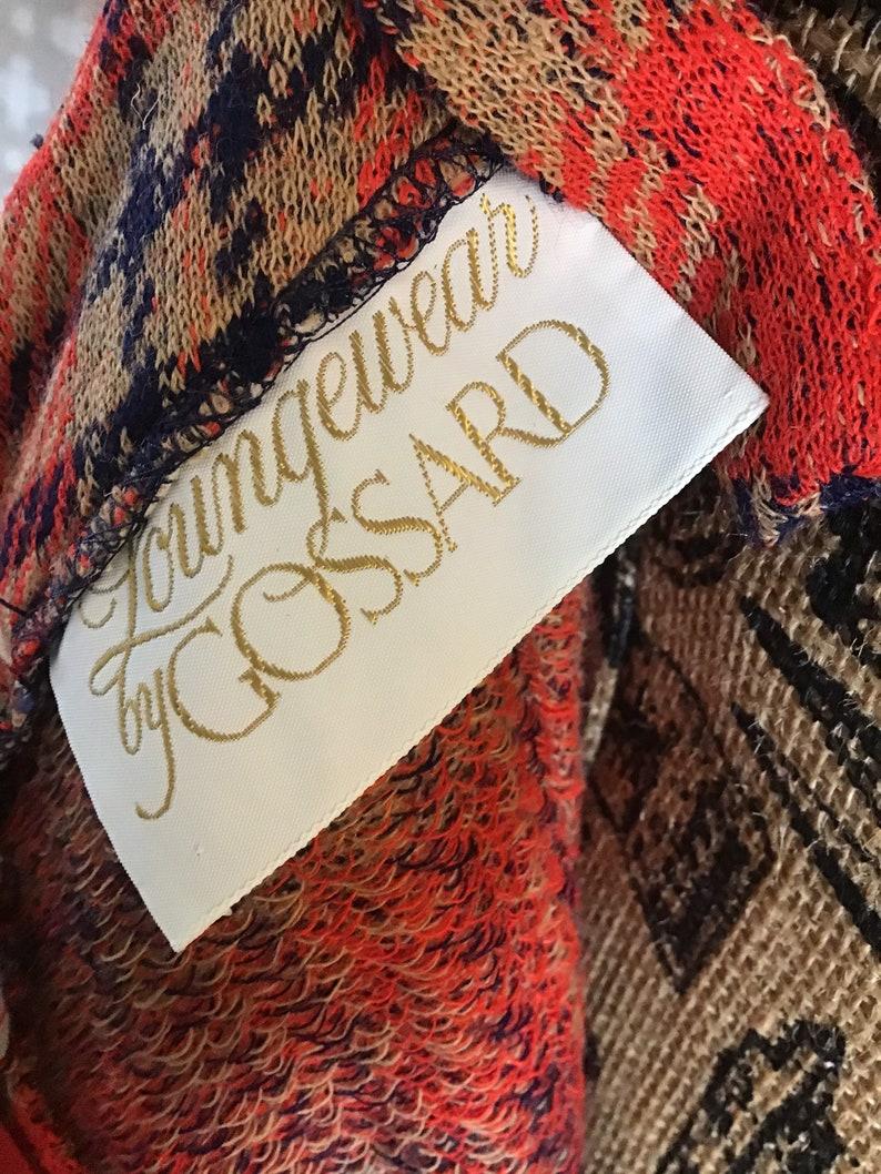 Red orange Plaid Vintage Jumper Dress 1970s Plaid Dress Loungewear by Gossard