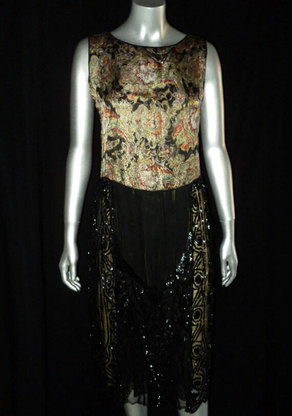 Sold 1920's Lame Pannier Dress Robe De Style Sequi