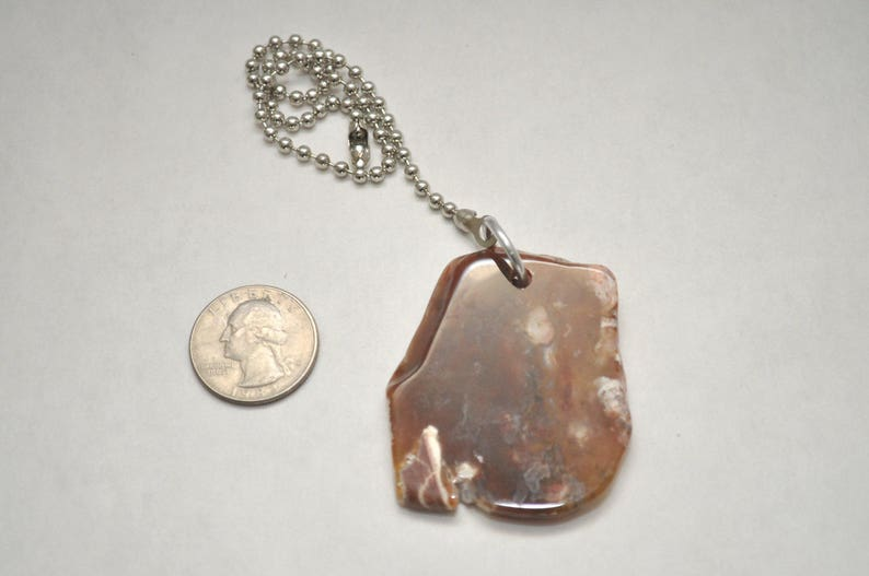 Ready to Ship Tumbled Agate Slab Light Pull Fan Pull