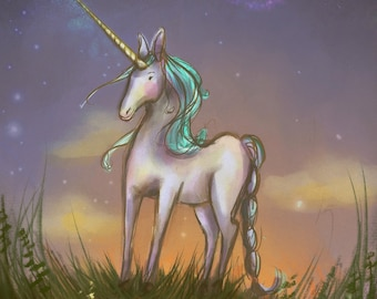 Personalized Unicorn wall art - kid's wall decor