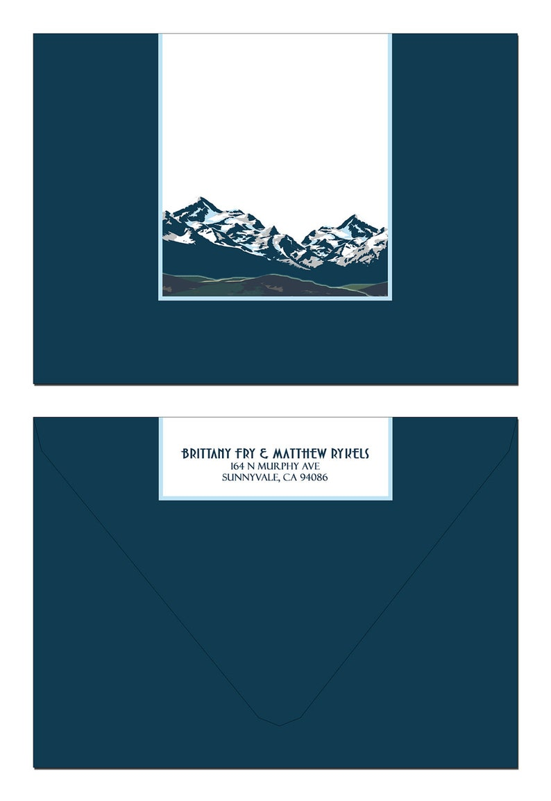 SAMPLE Vintage Montana Mountain Save the Date