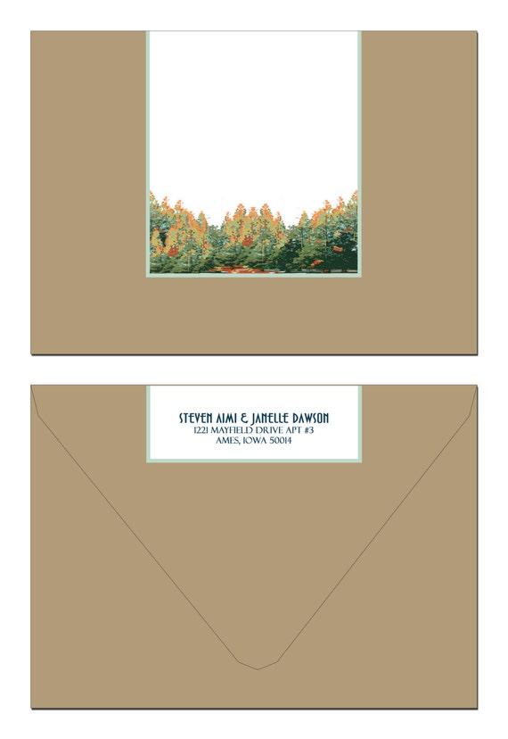 Vintage Lake Tahoe Wedding Invitation and Reply Postcard set of 20