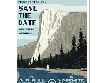 Vintage Yosemite, CA Save the Date - SAMPLE