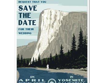 Vintage Yosemite, CA Save the Date (set of 20)