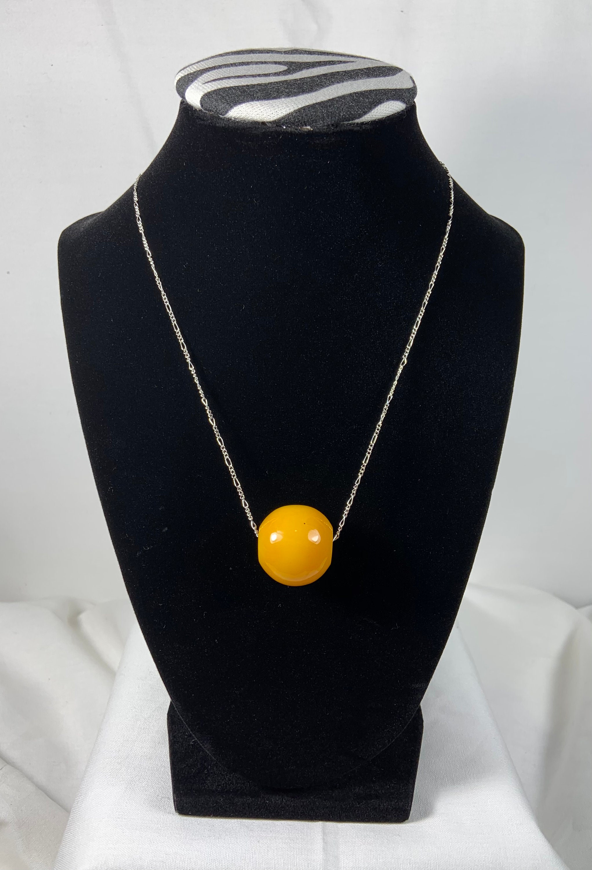Butterscotch African Amber Sterling silver chain
