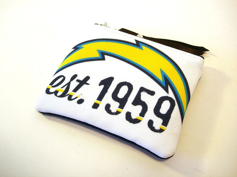 Los Angeles Football Coin Purse Small Pouch Chargers