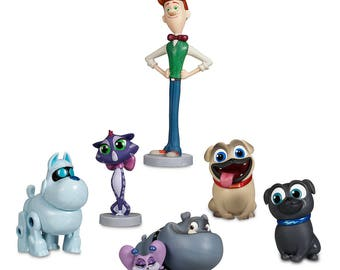 Puppy Dog Pals  CAKE TOPPER PVC Figure Set - Birthday Party Cupcakes Figurines